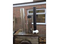 3 Selkirk double skinnedstainless steel flue's