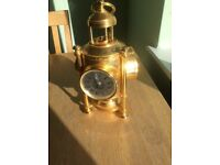 Franklin Mint Brass International Meteorological Clock Compass Barometer