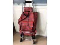 Tartan Shopping Trolley 6 Wheels