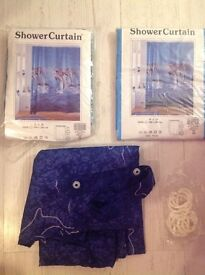 3 x dolphin themed shower curtains