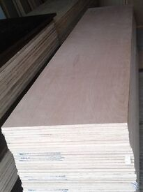 5 Pieces of NEW 15mm Exterior Grade Plywood 8ft x 21in (2440mm x 540mm)