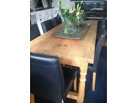 Stunning reclaimed pine dining table