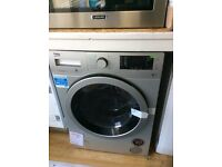 Silver beko washer dryer new graded 12 mth gtee