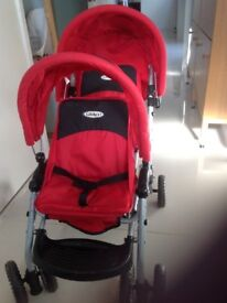 Graco double pushchair for those favourite dollies!