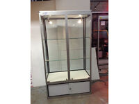 Ex Hire Glass Display Showcase 1.8m x 0.5m x 1m - Large