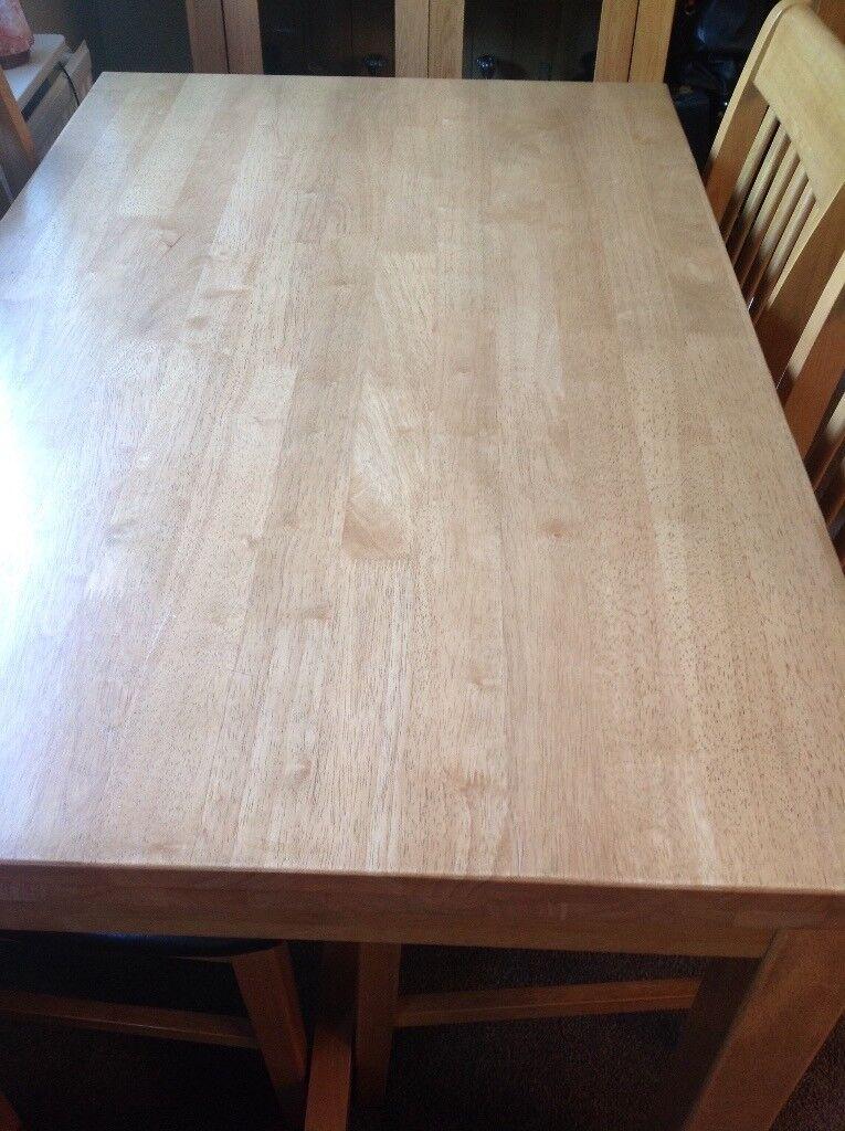 Light Oak coloured dining table