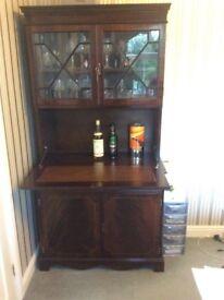 Mahogany drinks cabinet