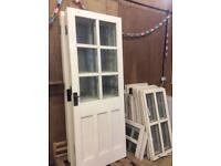 Wooden double glazed selection of doors and windows