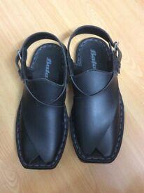 903fdd50c Men s summer shoes sandals Black colour with white stitching design. Size 10