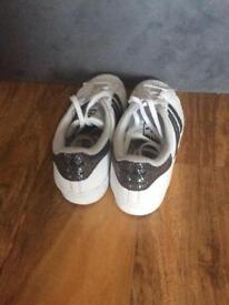 Adidas superstars trainers size 2, excellent condition