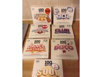 SEVEN CDS OF 100 HITS COMPILATIONS. Sealed £3 each