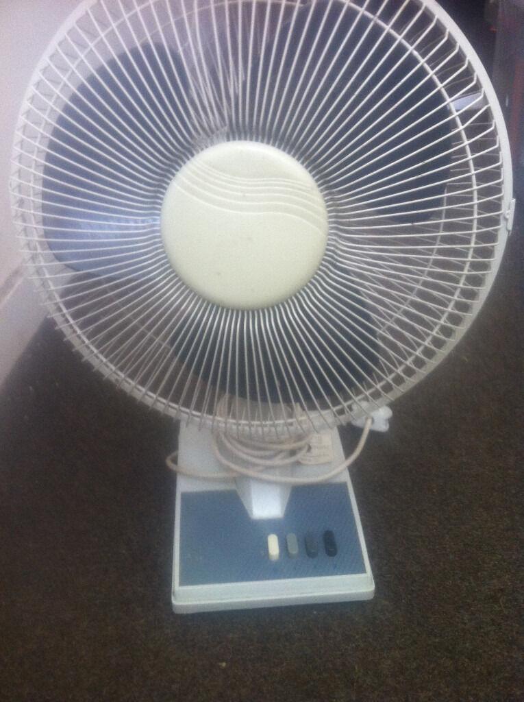 Gumtree Desk Fan : Inches oscillating desktop fan speed model stf in