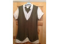 Next blouse with waistcoat attached