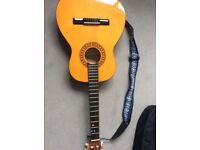 Child's guitar immaculate condition with case