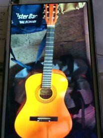 Palma guitar with stand