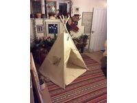 Brand new unused teepee perfect condition suitable for indoors and outdoors