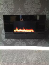 Electric fire wall mounted