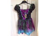 Halloween purple witch costume age 7-8