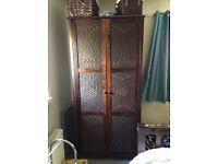2 solid wood mahogany wardrobes