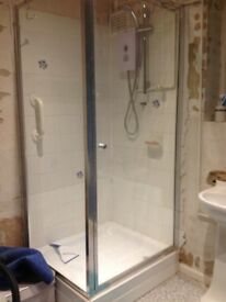 Shower enclosure with Bristan 850w electric shower.....approx 2 years old