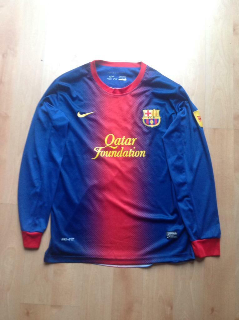 """8ec72cd346a fc barcelona messi jersey size large """"vintage""""   in colliers wood"""