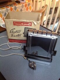 Vintage Swan Electric Toaster 1950's