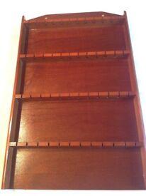Spoon rack mahogany