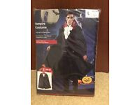 New with tags Halloween vampire costume size Large