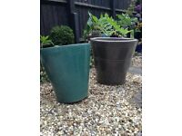 TWO GARDEN POTS £3 EACH