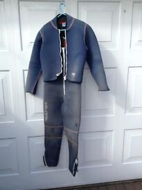 Two piece wetsuit.