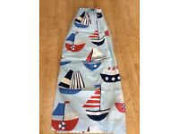 Blue boat design John Lewis curtains