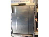 2x under counter fridges stainless steel