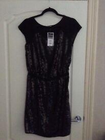 Wallis Black Sequins Dress