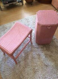 lLoyd Loom storage box and stool!! Bargain