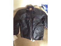 Genuine leather Nicklebys men jacket