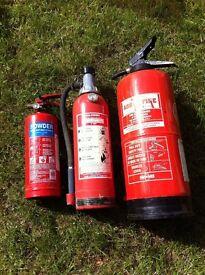 Assortment fire extinguishers