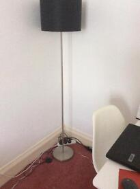 Floor lamp and new curtains
