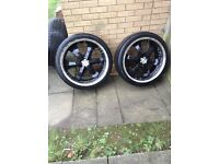 22 inch warrior alloys black