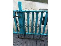 Heavy gauge metal garden gate