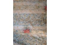 Old style used pair if curtains (200cm x200cm) and track set.