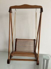 Handcrafted Solid Hard Wood Swing Chair Model
