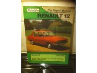 Autodata Manual For Renault 12, 1970
