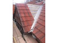 Roofing services, guttering, chimney pots, tiled roofs, flat roofs , lead flashing, pointing