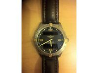 Breitling Aerospace (super quartz movement) Gold/Titanium, genuine Breitling black leather strap