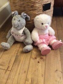 Build a bear hello kitty teddy and bunny rabbit
