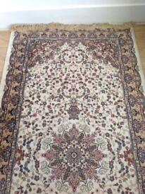 2x Turkish silk rugs