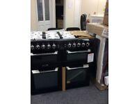 Black leisure cookmaster range cooker 100cm 12 mths gtee