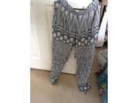 Size 8-10 cotton h n m trousers