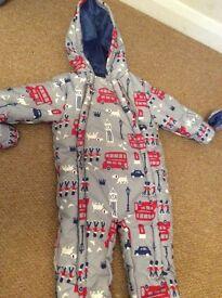 baby snow suit / sleep suit BNWT John Lewis