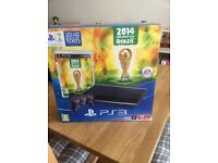 Brand new Playstation 3 12gb slim with FIFA World Cup 2014 game